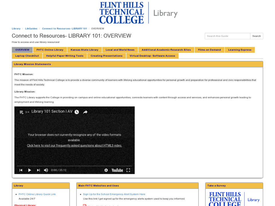 Libguide: Library 101